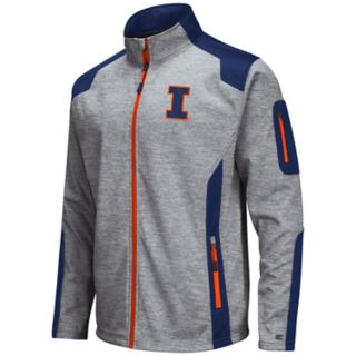Men's Illinois Fighting Illini Double Coverage Softshell Jacket