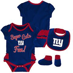 Baby Girl New York Giants Mini Trifecta Bodysuit, Bib & Booties Set