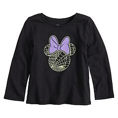 Disney's Minnie Mouse Toddler Girl Glow in the Dark Halloween Spider Web Graphic Tee by Jumping Beans®