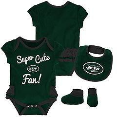 Baby Girl New York Jets Mini Trifecta Bodysuit, Bib & Booties Set