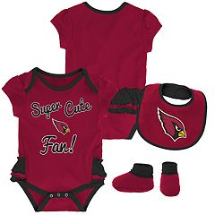 Baby Girl Arizona Cardinals Mini Trifecta Bodysuit, Bib & Booties Set