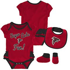 Baby Girl Atlanta Falcons Mini Trifecta Bodysuit, Bib & Booties Set