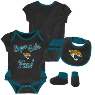 Baby Girl Jacksonville Jaguars Mini Trifecta Bodysuit, Bib & Booties Set