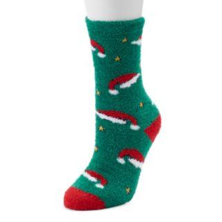 Jammies For Your Families Santa Hat Slipper Socks