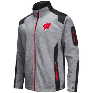 Men's Wisconsin Badgers Double Coverage Softshell Jacket