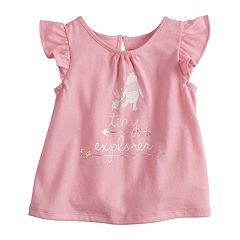 Disney's Winnie The Pooh & Piglet 'Tiny Explorer' Baby Girl Flutter Sleeve Tee  by Jumping Beans®