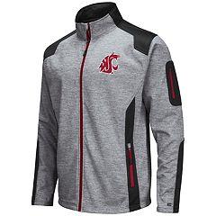 Men's Washington State Cougars Double Coverage Softshell Jacket