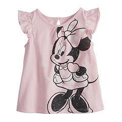 Disney's Minnie Mouse Baby Girl Flutter Sleeve Tee by Jumping Beans®