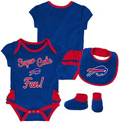 Baby Girl Buffalo Bills Mini Trifecta Bodysuit, Bib & Booties Set