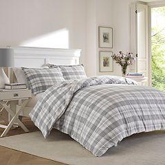 Laura Ashley Mulholland Plaid Flannel Comforter Set