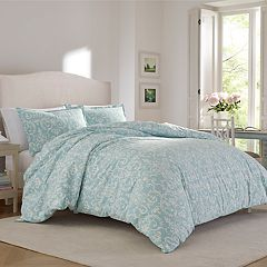 Laura Ashley Kensington Scroll Flannel Comforter Set