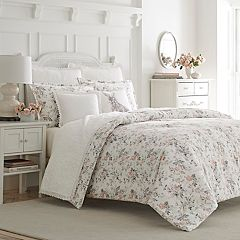 Laura Ashley Rosalie Flannel 3-piece Comforter Set