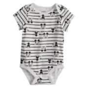 Disney's Baby Girl by Jumping Beans® Mickey Mouse Striped Bodysuit