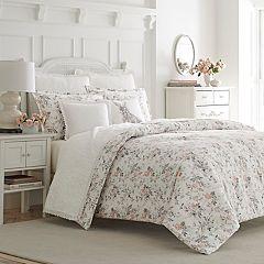 Laura Ashley Rosalie Flannel 3-piece Duvet Cover Set