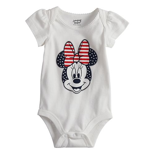 Disney's Minnie Mouse Baby Girl Americana Bodysuit by Jumping Beans®
