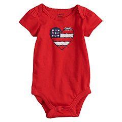 Baby Girl Jumping Beans® Americana Heart Bodysuit