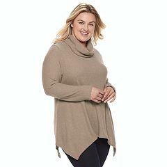 Plus Size SONOMA Goods for Life™ Supersoft Cowlneck Tunic