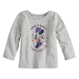 """Disney's Minnie Mouse Baby Girl """"Have A Happy Thanksgiving"""" Long Sleeve Tee by Jumping Beans®"""