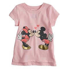 Disney's Mickey & Minnie Mouse Baby Girl Kissing Tee by Jumping Beans®