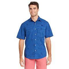 Men's IZOD Saltwater Surfcaster Sportflex Classic-Fit Button-Down Shirt