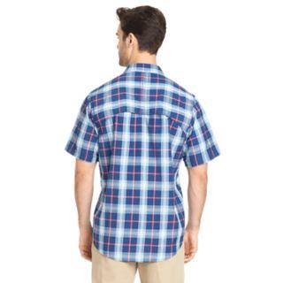 Men's IZOD Saltwater Surfcaster Sportflex Plaid Classic-Fit Button-Down Shirt