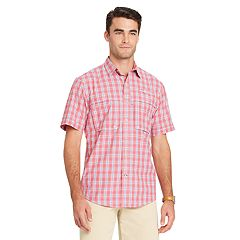 Men's IZOD Saltwater Surfcaster Sportflex Plaid Classic-Fit Button-Down Shirt