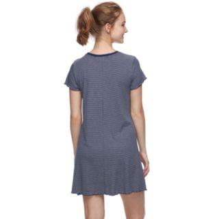 Juniors' Love, Fire Printed Ribbed Pocket Tee Dress