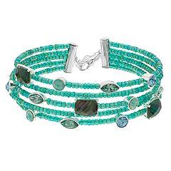 Napier Green Bead Multi Row Bracelet