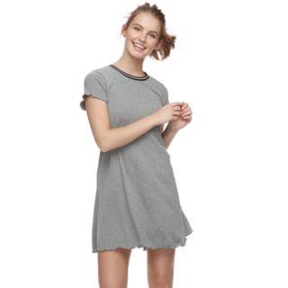 Juniors' Love, Fire Space-Dye Ribbed Tee Dress