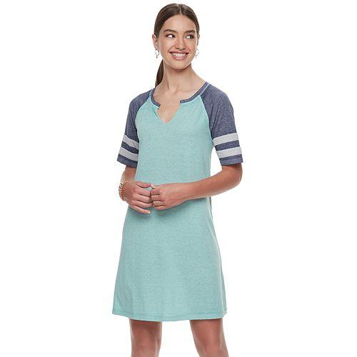 Juniors' SO® Varsity Striped Dress