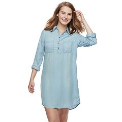 Juniors' SO® Utility Shirt Dress