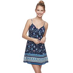 Juniors' Trixxi Tie-Front Floral Swing Dress