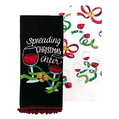 St. Nicholas Square® Wine Kitchen Towel 2-pack