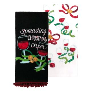 St. Nicholas Square® Wine Kitchen Towel 2-pack