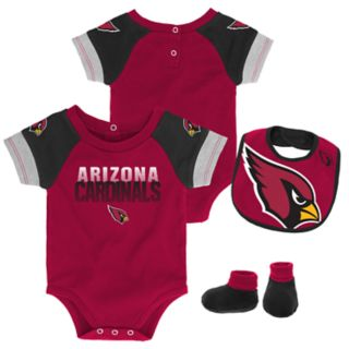 Baby Arizona Cardinals 50 Yard Dash Bodysuit, Bib & Booties Set