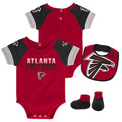 Baby Atlanta Falcons 50 Yard Dash Bodysuit, Bib & Booties Set