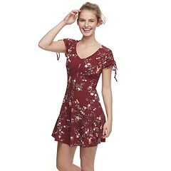 Juniors' Love, Fire Ribbed Swing Dress