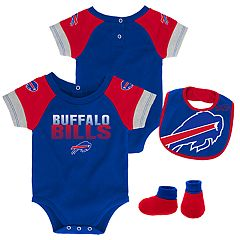 Baby Buffalo Bills 50 Yard Dash Bodysuit, Bib & Booties Set