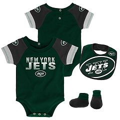 Baby New York Jets 50 Yard Dash Bodysuit, Bib & Booties Set