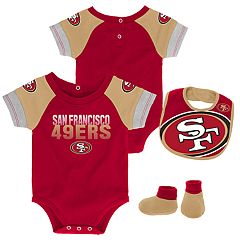 Baby San Francisco 49ers 50 Yard Dash Bodysuit, Bib & Booties Set