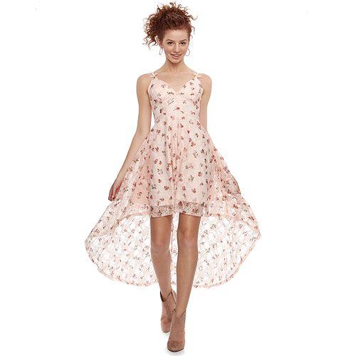 711d9276b6fe Disney Princess Juniors  Floral High-Low Lace Party Dress