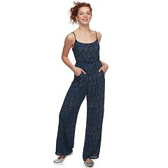 Juniors' Lily Rose Geometric Jumpsuit