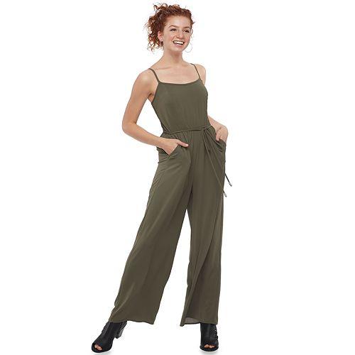 Juniors' Lily Rose Solid Jumpsuit