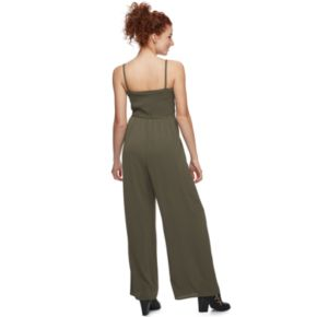 Juniors' Lily Rose Solid Jumpsuit