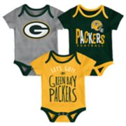 Baby Green Bay Packers Little Tailgater Bodysuit Set