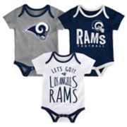 Baby Los Angeles Rams Little Tailgater Bodysuit Set