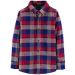 Boys 4-12 OshKosh B'gosh® Flannel Plaid Button Down Shirt