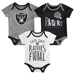 Baby Oakland Raiders Little Tailgater Bodysuit Set