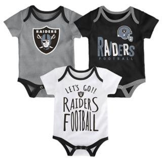 Baby Oakland Raiders Little Tailgater Bodysuit Set