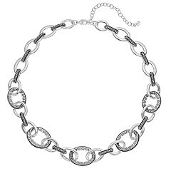 Napier Filigree Oval Link Collar Necklace
